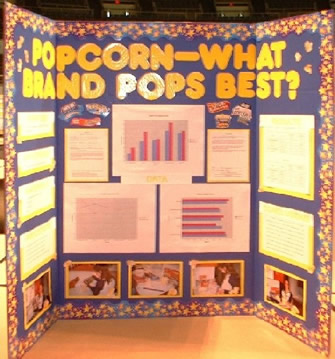 Popcorndisplayboardjpg - Layout of a science fair board